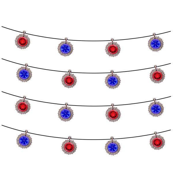 ریسه مدل خورشید تاب 7 شعله آبی و قرمز
