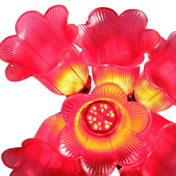 ریسه چراغ آذین لاله 12شعله همراه آویز زربافت ( قرمز )